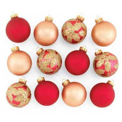 christmas shop red and gold christmas ornaments ppm37374